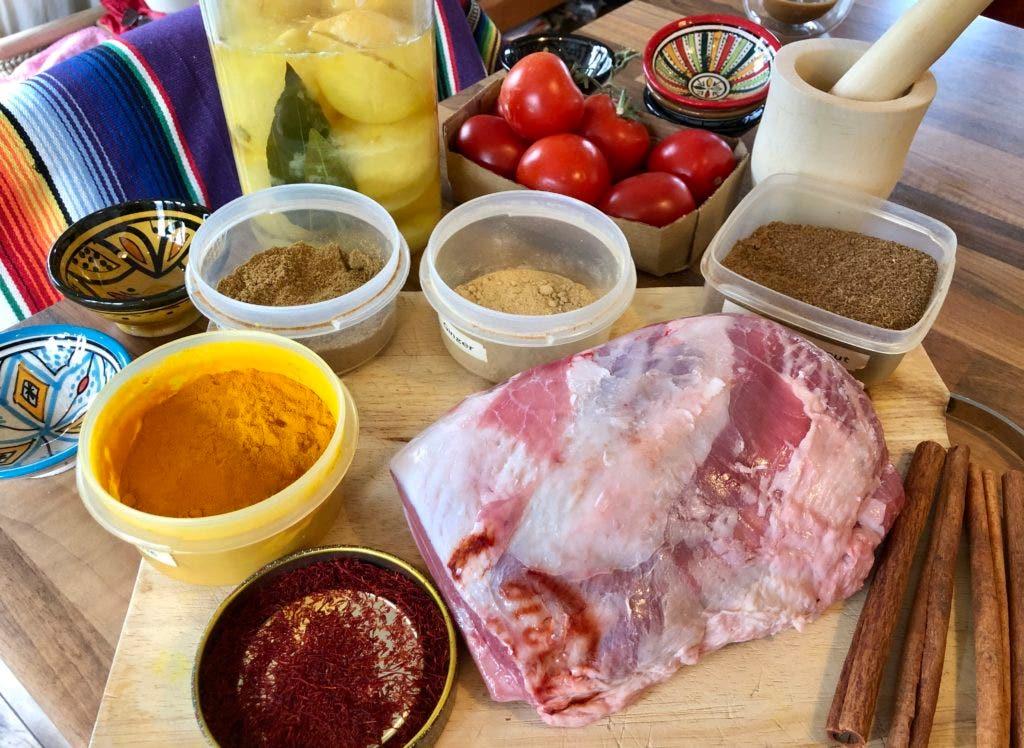 Shoulder of lamb, ready for marinade